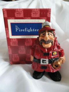 David Frykman Firefighter DF3904 Fire Chief Cast Resin Statue Figurine