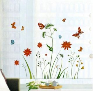 Color Flower Dandelion Tree Butterfly Viny Wall Sticker Decor