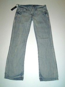 NWT BUFFALO DAVID BITTON Keith Slim Boot Cut Distressed Denim Jeans 36