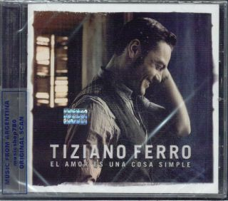 Tiziano Ferro El Amor ES Una Cosa Simple SEALED CD New 2012