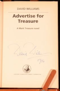 1984 Advertise for Treasure David Williams Mark Treasure Signed First