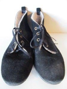 Vintage Daniel Green Outdorables Black Suede Booties Boots Shoes 9