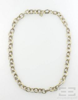 David Yurman 18K Yellow Gold Sterling Cable Link Necklace