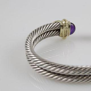 David Yurman 18K Gold Silver Two Rows Cable Bracelet