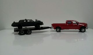 Built 1964 Chrysler Imperial Demolition Derby Car w/ Truck & Trailer