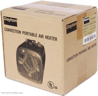 U37 Dayton Electric Fan Forced Heater with 2 Power Settings and 1 5 KW