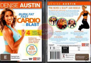 Denise Austin Burn Fat Fast Cardio Blast Training New