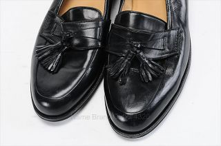 Cole Haan Collection 9 D Dennehy Napa Tassel Black Leather Loafer Shoe