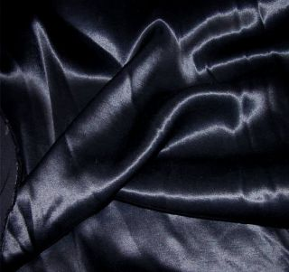 New Dark Navy Blue Acetate Rayon Satin Fabric