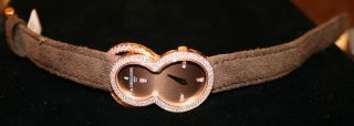 de grisogono diamond ladies rose gold watch