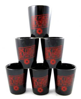description star wars set of 6 darth vader ceramic shot