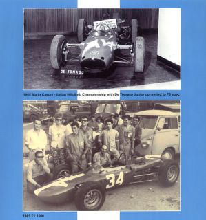 De Tomaso Racing History Book Picture Photo Formula GT Sport Race Car