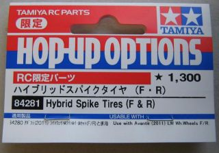 New Part 84281 Tamiya Avante 2011 Hybrid Spike Tires F R Set of 4