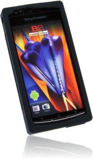 Sony Ericsson Xperia Arc S Retro Kassette Silikon Hülle Case Tasche