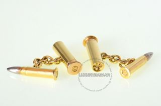 Deakin & Francis 18K Yellow Gold Bullet Cufflinks