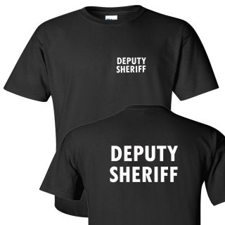 Deputy Sheriff Front and Back Logo T Shirt All Sizes