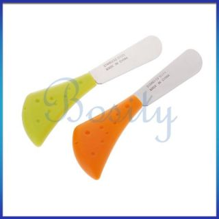 4pcs Plastic Handle Stainless Steel Blade Butter Knife Sandwich Cheese