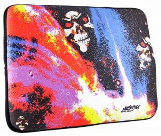 designer sleeves neon skulls 15 4 inch laptop case