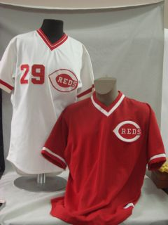 Reds Tracy Jones 1986 Rookie Game Used Jersey 1984 Dave Parker