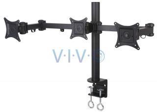Triple LCD Monitor Desk Mount Stand Heavy Duty Adjustable 3 Screens