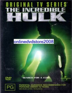 The Incredible Hulk TV Series Vol 1 Bill Bixby DVD New SEALED