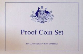 australian 1987 decimal proof coin set 7 proof coins
