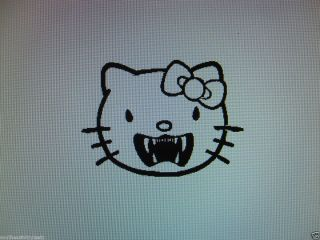 Hello Kitty Vampire Vinyl Decal Sticker Available in 23 Colors Free