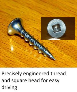 Stainless Steel Screws for Decking Fencing 6 x 1 Square Drive