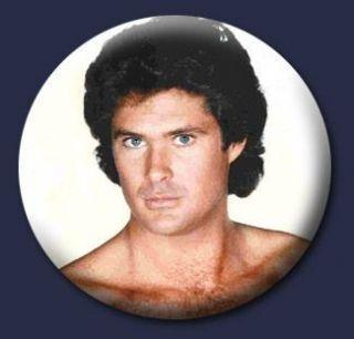 David Hasselhoff Funny Emo Odd 80s 1 Pin Button Badge