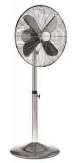 Stainless 16 inch Adjustable Floor Standing Fan by Deco Breeze