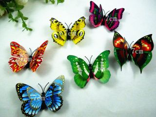 6pcs 3D wall stickers butterfly magnet room decorative decals size 7
