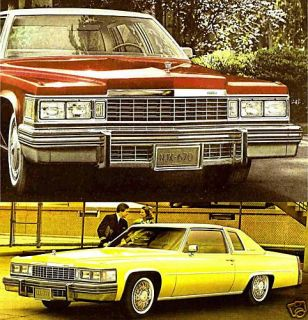 1977 Cadillac Brochure DeVille Fleetwood Limousine