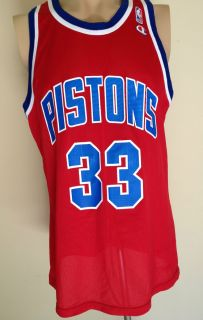 Vtg Grant Hill Detroit Pistons Champion Jersey Authentic 90s 48 XL