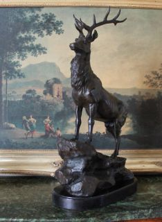 Elk Stag Buck Deer Wildlife Art Cabin Lodge Sportsman Art Bronze