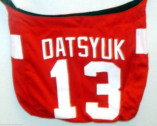 DETROIT RED WINGS NHL #13 PAVEL DATSYUK PLAYERS HAT TRICK JERSEY TOTE