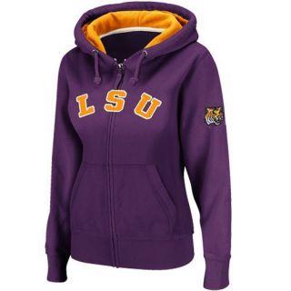 LSU Tigers Ladies Classic Arch Full Zip Hoodie Purple
