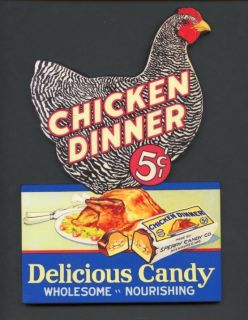 Chicken Dinner candy Wall Plaque Decoration Sign Vintage Style