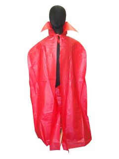PVC Red Devil Costume Cape 45 Halloween Costume