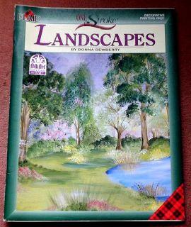 One Stroke Landscapes Donna Dewberry 2001 9621 FolkArt Plaid 4