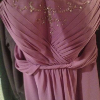 Davids Bridal Wisteria Colored Wedding Bridesmaid Gown Dress Beaded