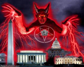 DC  Anti Satanic World Order Illuminati David Dees T Shirt