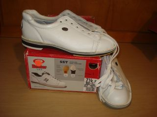 Dexter Womens Ladies Left Handed Bowling Shoes SST Leather White Size