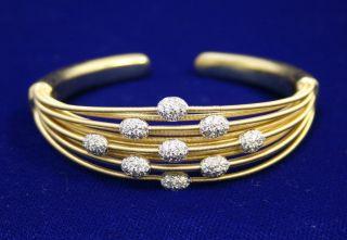 Marco Bicego 18k Yellow Gold 90 Diamond .9ct GH VS+ Flexible Bangle