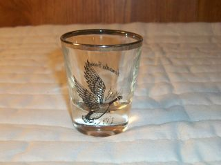 ESTATE FIND CANADIAN GOOSE WILDLIFE SHOT GLASS