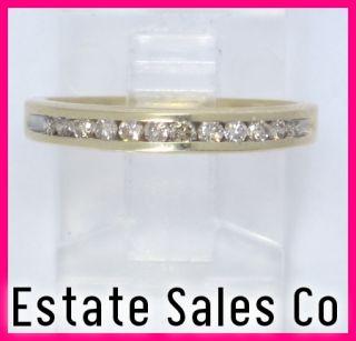 Yellow Gold Round Diamond Anniversary Wedding Ring 24 Carats