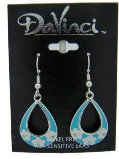 Earrings Match Ring DR55 8 and Bead DB55 8 Colors Light Blue & White