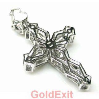 or Yellow Gold 0.30 ct H Diamond 5.70 Grams Mens Jesus Cross Pendant