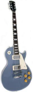 Metal Grey Electric Guitar with Set Neck & Vintage Cutaway by Davison