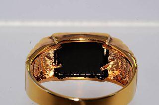 02Ct Dad Written Mens Natural Onyx Diamond Ring Size 9 25 Beautiful