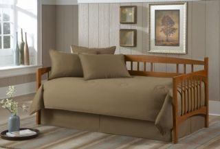 New in Bag 5pc Solid Khaki Daybed Comforter Set
